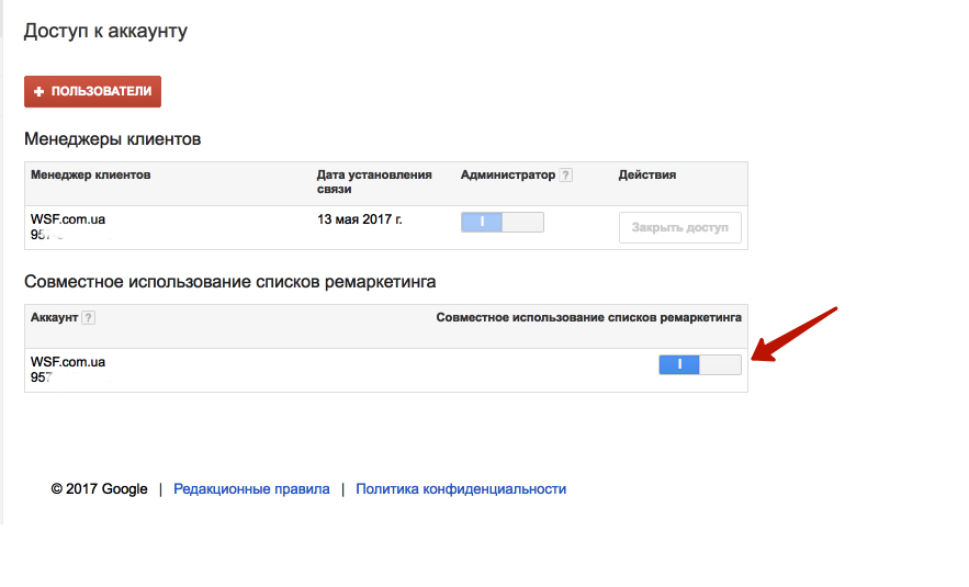 аудитории adwords